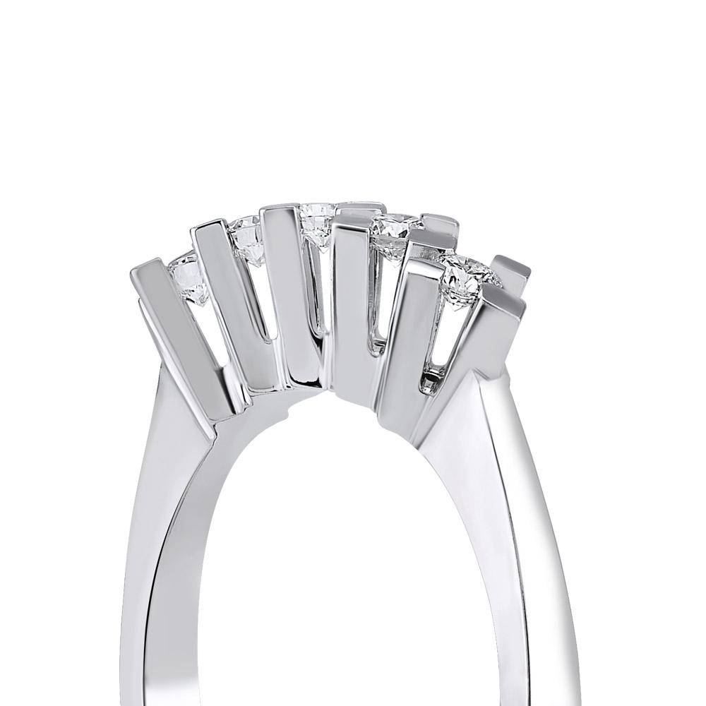 0.10 ct. Fünfstein Diamantring