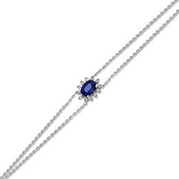 Saphir Diamant Armband