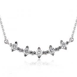 Fünfstein Diamantring