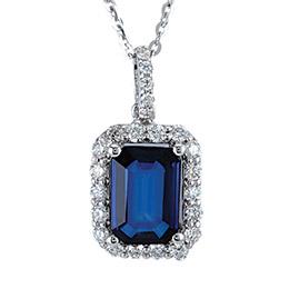 Saphir Diamant Halskette
