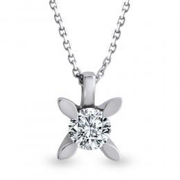 Solitär Diamant Halskette